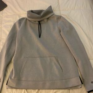 Champion Grey Funnel Neck Hoodie